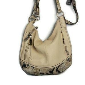 B. Makowski Python Leather Purse Shoulder Bag
